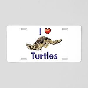 I-love-turtles-for-light Aluminum License Plat