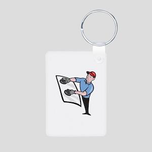 Automotive Glass Installer Aluminum Photo Keychain