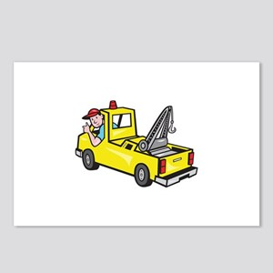 Tow Wrecker Truck Driver Thumbs Up Postcards (Pack