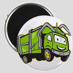 Garbage Rubbish Truck Cartoon Magnet