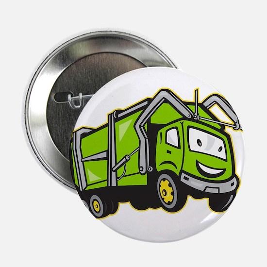 """Garbage Rubbish Truck Cartoon 2.25"""" Button"""