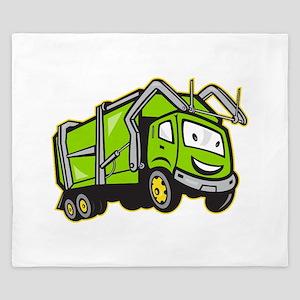 Garbage Rubbish Truck Cartoon King Duvet