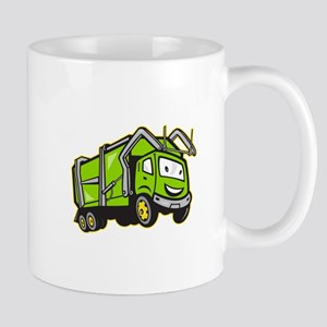 Garbage Rubbish Truck Cartoon Mug