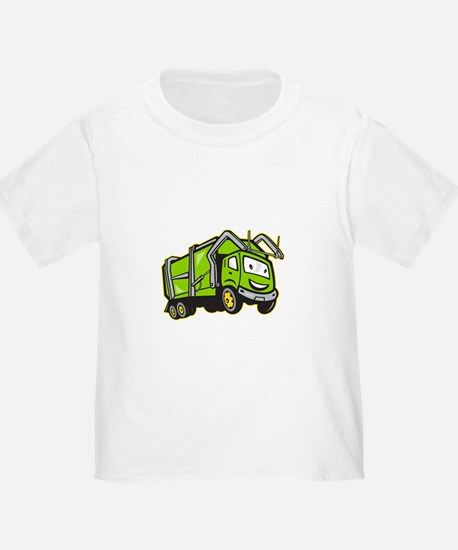 Garbage Rubbish Truck Cartoon T