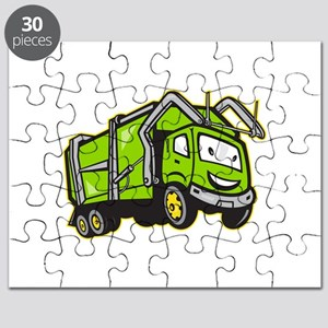 Garbage Rubbish Truck Cartoon Puzzle