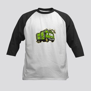 Garbage Rubbish Truck Cartoon Kids Baseball Jersey