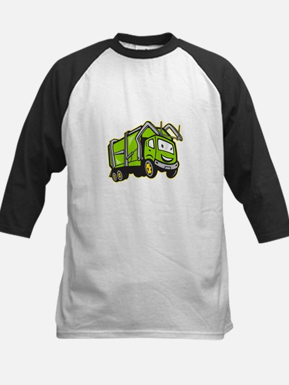 Garbage Rubbish Truck Cartoon Kids Baseball Jersey