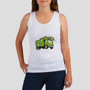 Garbage Rubbish Truck Cartoon Women's Tank Top