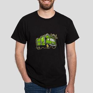 Garbage Rubbish Truck Cartoon Dark T-Shirt