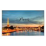 Paris Sticker (Rectangle 50 pk)
