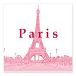 """Paris Square Car Magnet 3"""" x 3"""""""