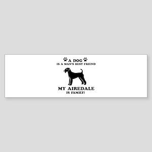 Airedale Dog Breed Designs Sticker (Bumper)