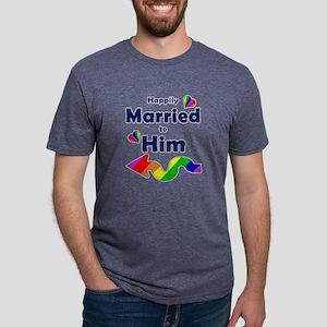 Married to Him Left Arrow Mens Tri-blend T-Shirt