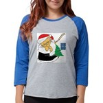 kitty cat xmas Womens Baseball Tee