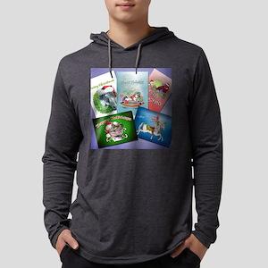 christmas cards 2007 Mens Hooded Shirt