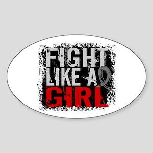 Fight Like a Girl 31.8 Diabetes Sticker (Oval)