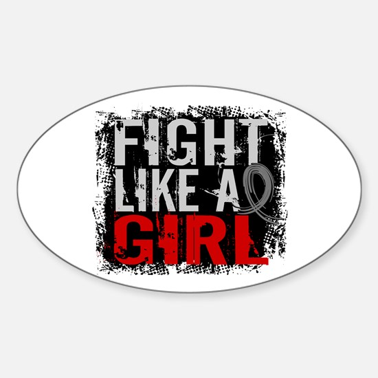 Fight Like a Girl 31.8 Diabetes Sticker (Oval)
