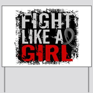 Fight Like a Girl 31.8 Diabetes Yard Sign