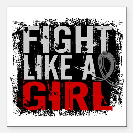 Fight Like a Girl 31.8 Diabetes Square Car Magnet