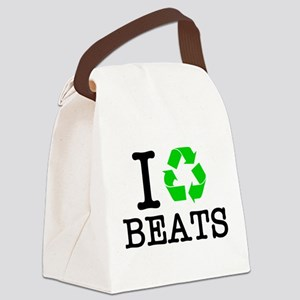 I Recycle Beats Canvas Lunch Bag