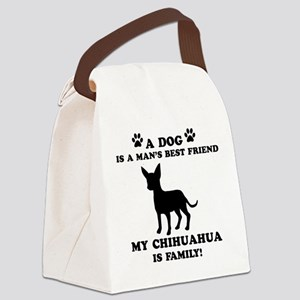 Chihuahua Dog Breed Designs Canvas Lunch Bag