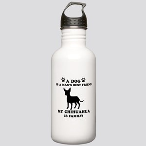 Chihuahua Dog Breed Designs Stainless Water Bottle
