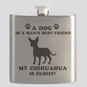 Chihuahua Dog Breed Designs Flask