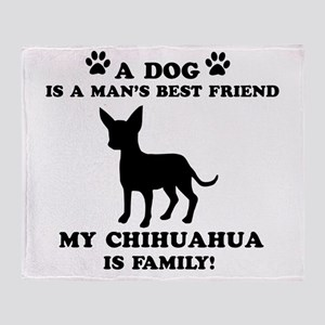 Chihuahua Dog Breed Designs Throw Blanket