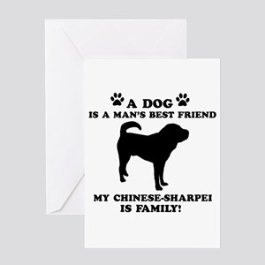 Chinese Shar-Pei Dog Breed Designs Greeting Card