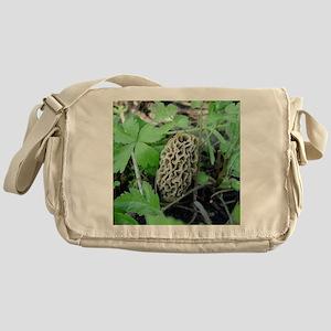 Yellow Morel Mushroom Messenger Bag