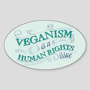 Human Rights Vegan Sticker (Oval)