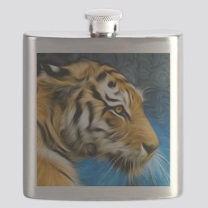 Tiger Art Painting Flask