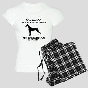 Doberman Dog Breed Designs Women's Light Pajamas