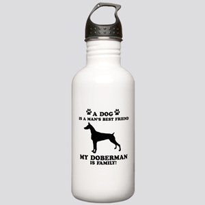 Doberman Dog Breed Designs Stainless Water Bottle