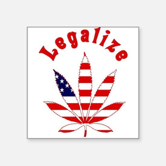 "Legalize Marijuana in the US Square Sticker 3"" x 3"