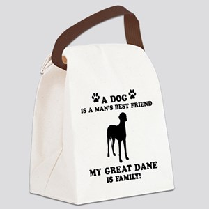 Great Dane Dog Breed Designs Canvas Lunch Bag