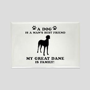Great Dane Dog Breed Designs Rectangle Magnet
