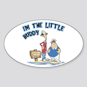 I'm The Little Buddy Oval Sticker