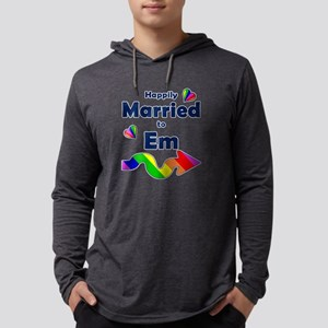 Married to Em Right Arrow Mens Hooded Shirt