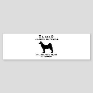 Japanese Akita Dog Breed Designs Sticker (Bumper)