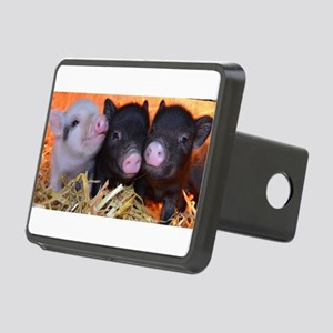 3 little micro pigs Rectangular Hitch Cover