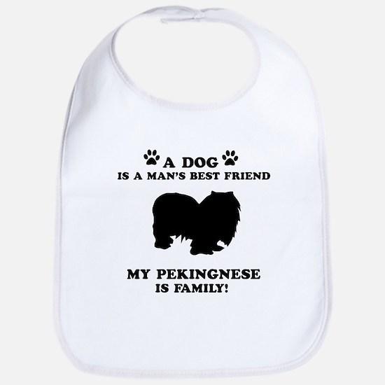 Pekingnese Dog Breed Designs Bib