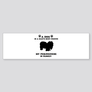 Pekingnese Dog Breed Designs Sticker (Bumper)