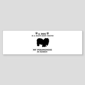 Pekingnese Dog Breed Designs Sticker (Bumper)