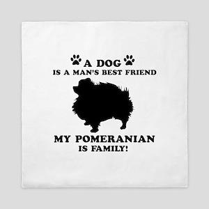 Pomeranian Dog Breed Designs Queen Duvet