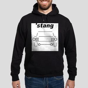 ASCII stang front Hoodie (dark)