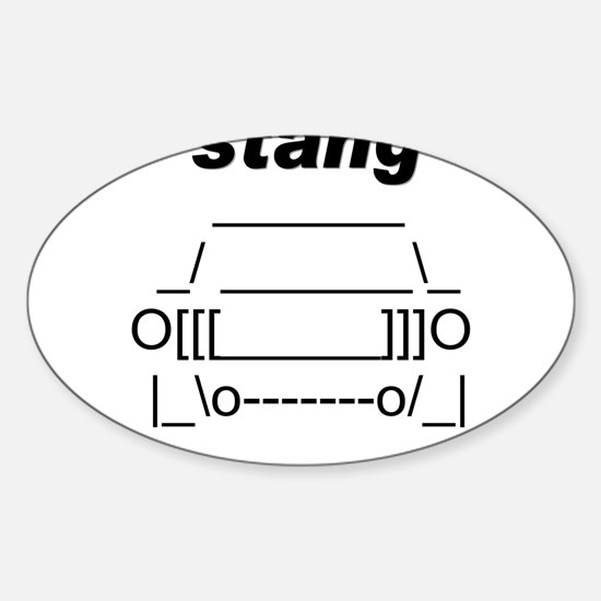 ASCII stang front.png Sticker (Oval)