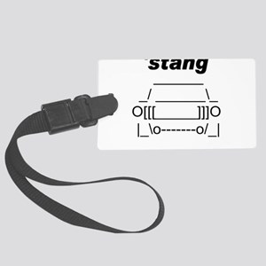 ASCII stang front Large Luggage Tag