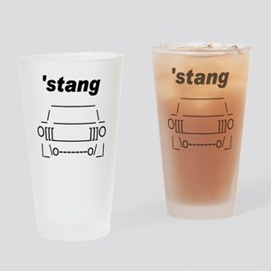 ASCII stang front Drinking Glass