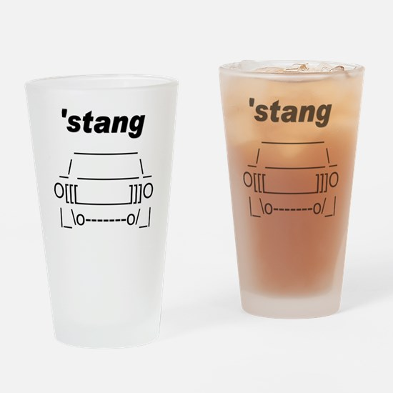 ASCII stang front.png Drinking Glass